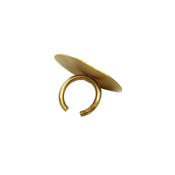 Adjustable Brass Ring by Corosch London | Discover now at Cuemars
