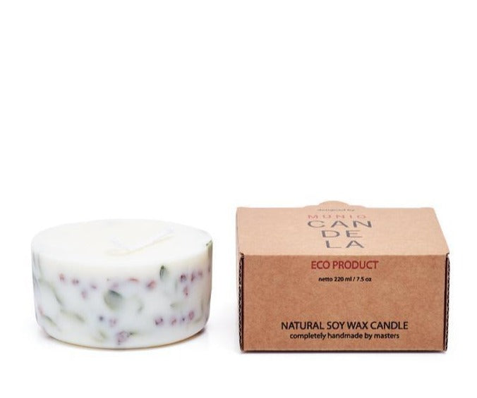 Ashberries & bilberry leaves eco soy wax mini candle