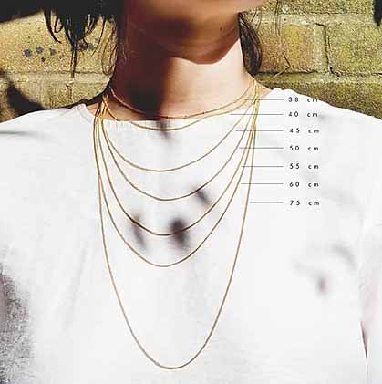 Handcrafted geometric necklace in 18ct gold plated recycled sterling silver different lengths