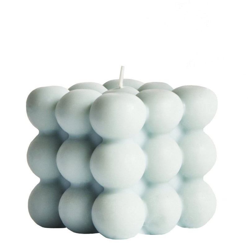 Bubble Soy Candle by Elaina Grace in Light Blue - Cuemars UK
