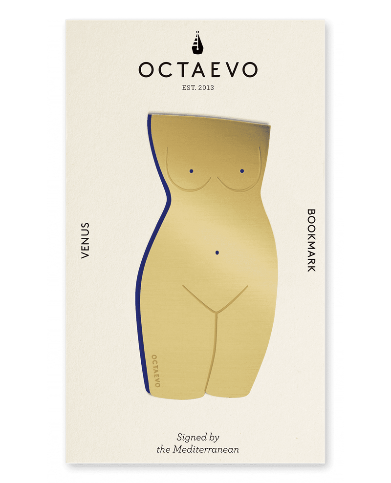 Picture of a finely-cut metal gold Venus body bookmark by Octaevo available at cuemars.com