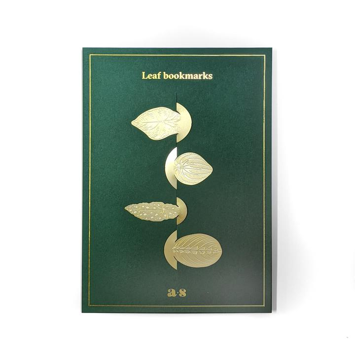Picture of Another Studio Brass Leaves Bookmarks available to purchase at cuemars.com