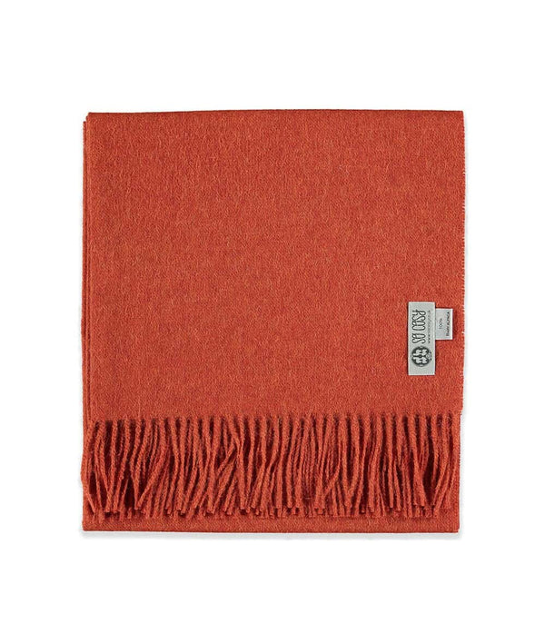 picture of handmade super soft baby alpaca shawl by so cosy in burnt orange available online and at the store