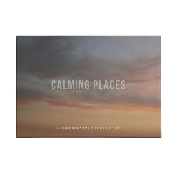 calming places by the school of life, 20 guided meditation cards available at cuemars