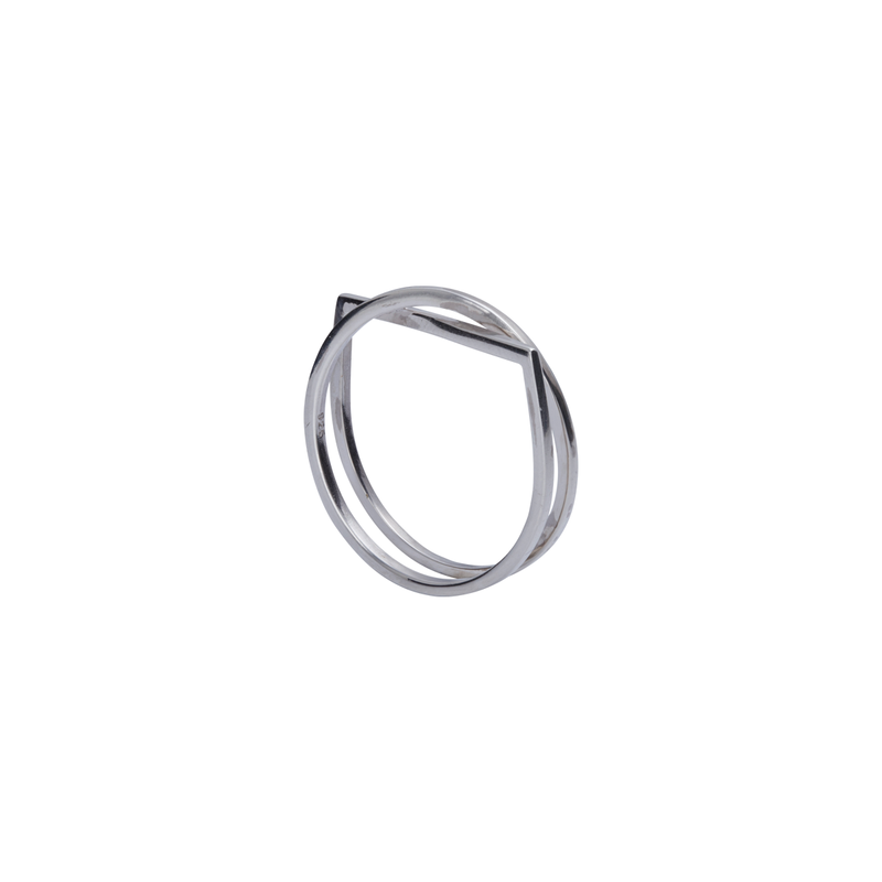 Sara Silver Ring | Keep it Peachy | Discover now at Cuemars