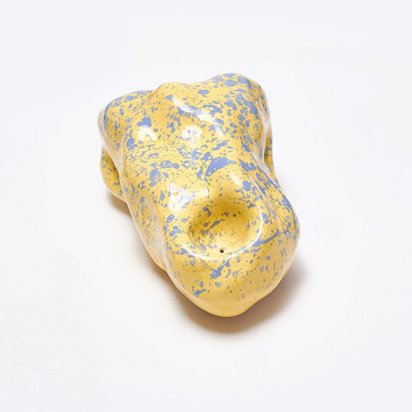 Yellow / Lilac Ceramic Incense Holder by Siup Studio - Available at Cuemars