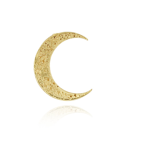 23ct gold plated Silver Crescent Moon earrings by Momocreatura