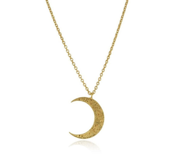 Momocreatura Crescent Moon Gold Plated x Sterling Silver Necklace