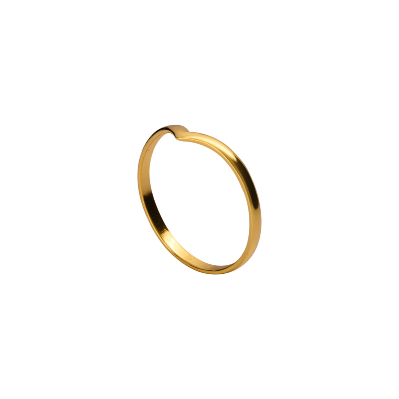 Sacha Gold Stacking Ring | Keep it Peachy | Discover now at Cuemars