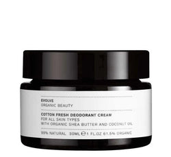 Product Picture of Evolve Organic Beauty's Natural Deodorant Cream available now at cuemars.com
