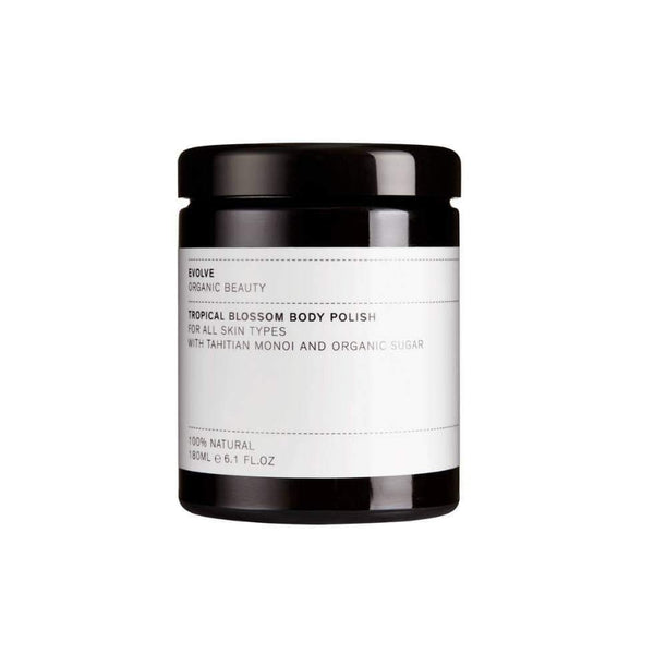 Product Picture of Evolve Organic Beauty's Tropical Blossom Body Polish available now at cuemars.com