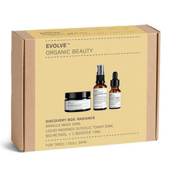 Picture of Evolve Organic Beauty's Award Winning Radiance Discovery Gift Box available now at cuemars.com