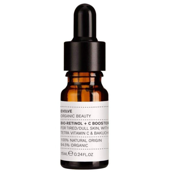 Picture of Evolve Organic Beauty's Bio-Retinol + C Booster Serum available now at cuemars.com