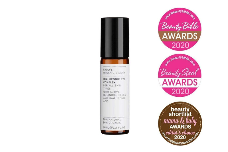 Picture of Evolve Organic Beauty's Award Winning Hyaluronic Eye Complex available now at cuemars.com
