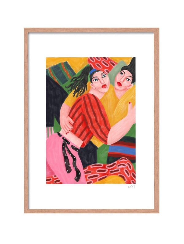 "Picture of ""Fluid Love"", an Art Print made by French designer Cédric Pierre-Bez, also known as Cépé available now at cuemars.com"