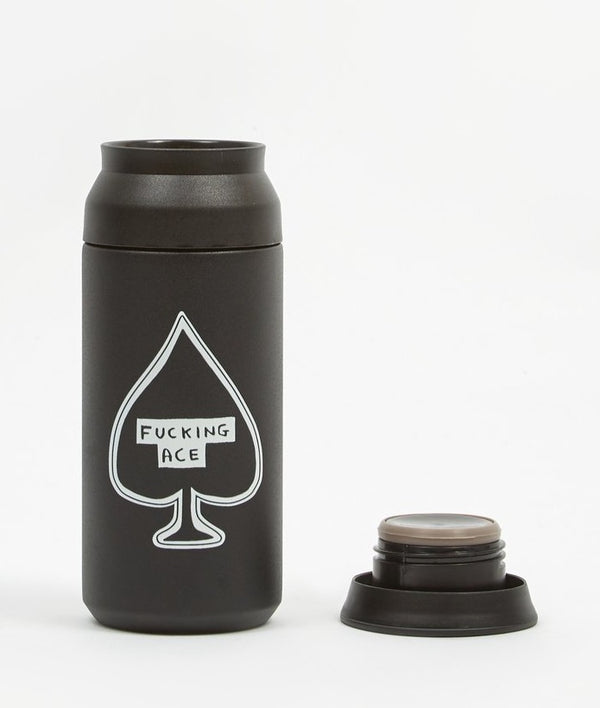 Product Picture of Fucking Ace Travel Flask by David Shrigley