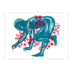 Screen print Garden Man 2 limited edition by Tom Berry