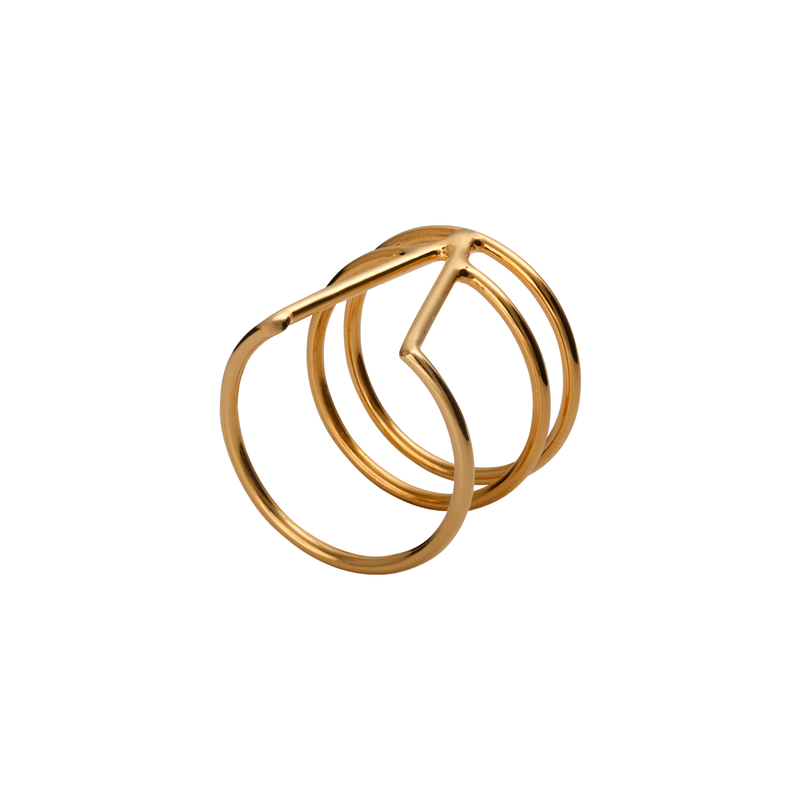 Harmonia Gold Ring by Corosch | Discover now at Cuemars