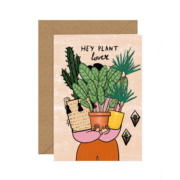 Illustrated Diversity / Feminist Greeting Card by Sakina Saidi 'Hey plant lover!' | Available at Cuemars London