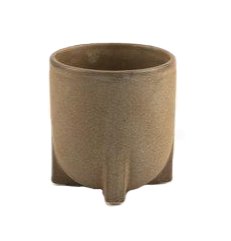 speckled sand ceramic plant pot with legs