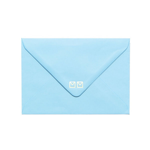 blue envelope included by mean mail