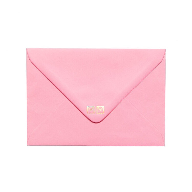 pink envelope by mean mail