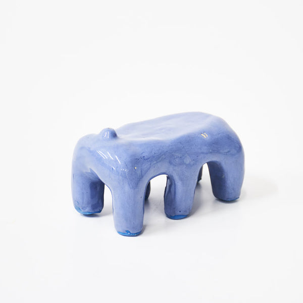 Lilac / Blue Ceramic Incense Holder with Legs by Siup Studio - Available at Cuemars