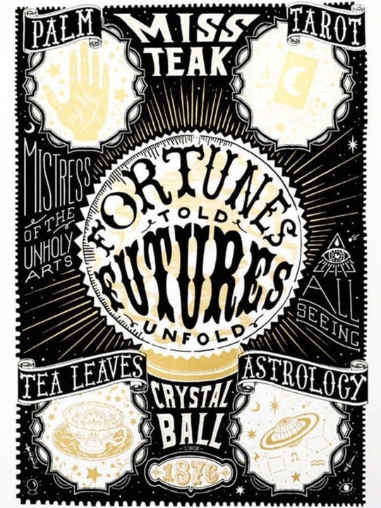 SCREEN PRINT - Fortunes told, Futures unfold