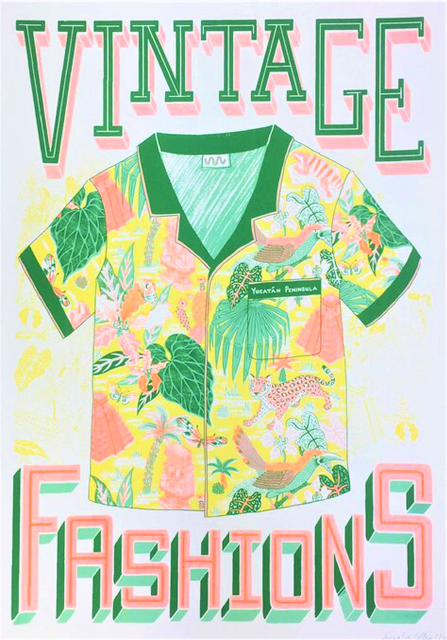 A2 Screen Print by Jacqueline Colley - Vintage Fashions