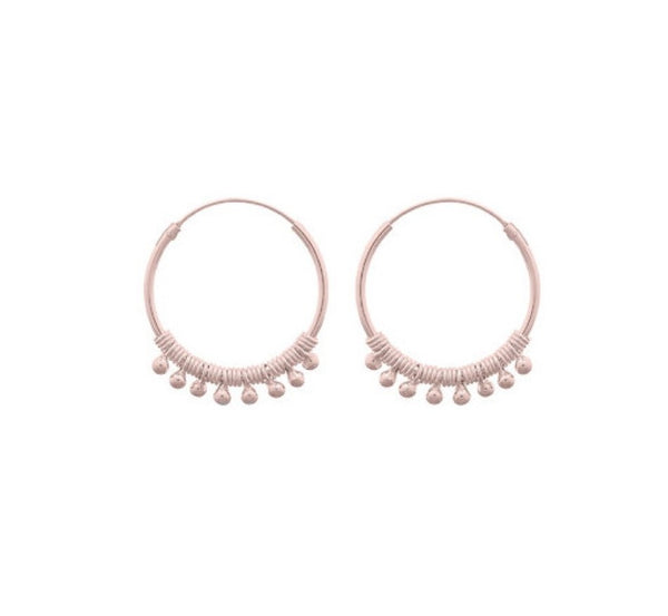 Fresh and minimalist rose gold small hoop earrings Olive  by Keep it Peachy now online on Cuemars