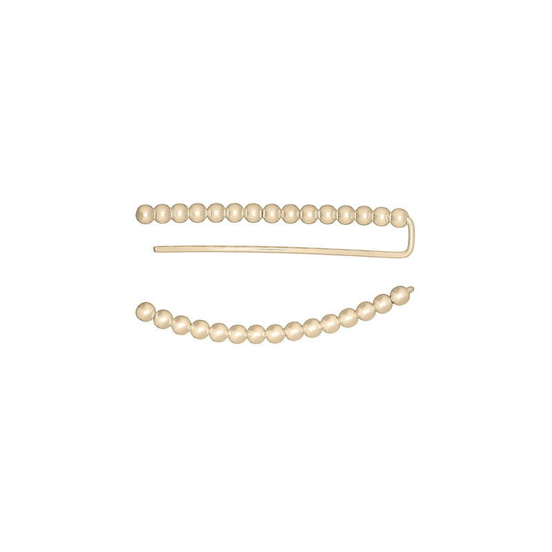 Fresh and minimalist gold bead ear climbers Eunate by Keep it Peachy now online on Cuemars
