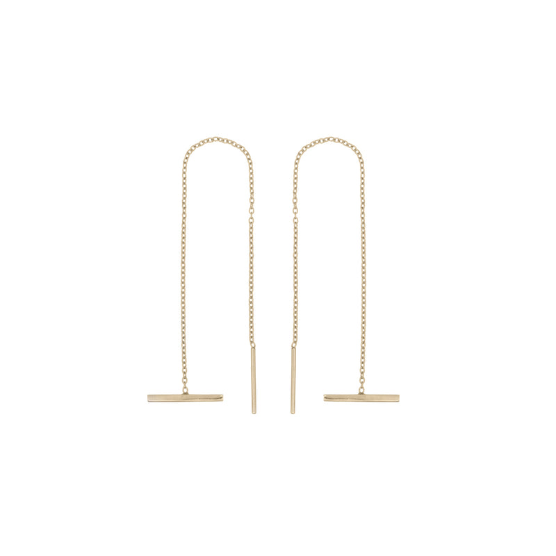 Fresh and minimalist bar threader earrings Kyra by Keep it Peachy now online on Cuemars