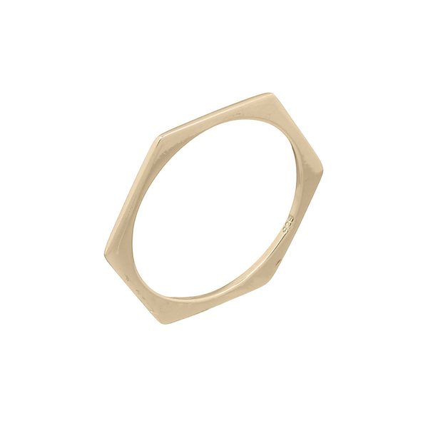 Hazel Hexagon Gold Ring | Keep it Peachy | Discover now at Cuemars