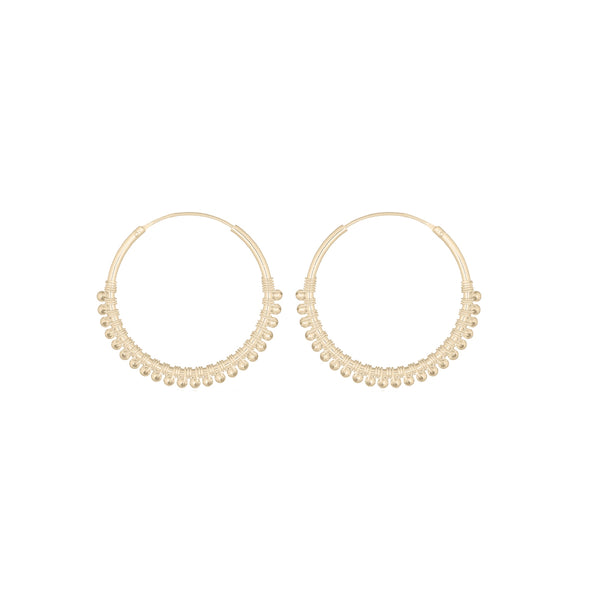 Goldie Beaded Hoop Earrings | Keep it Peachy | Discover now at Cuemars