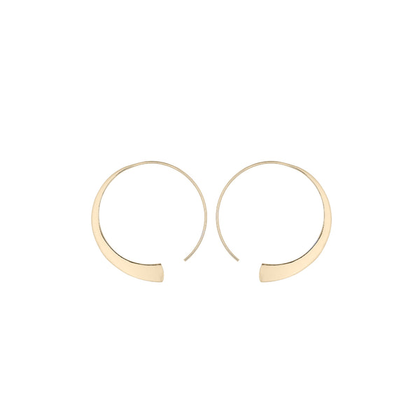 Fresh and minimalist open gold hoop earrings Ekia by Keep it Peachy now online on Cuemars