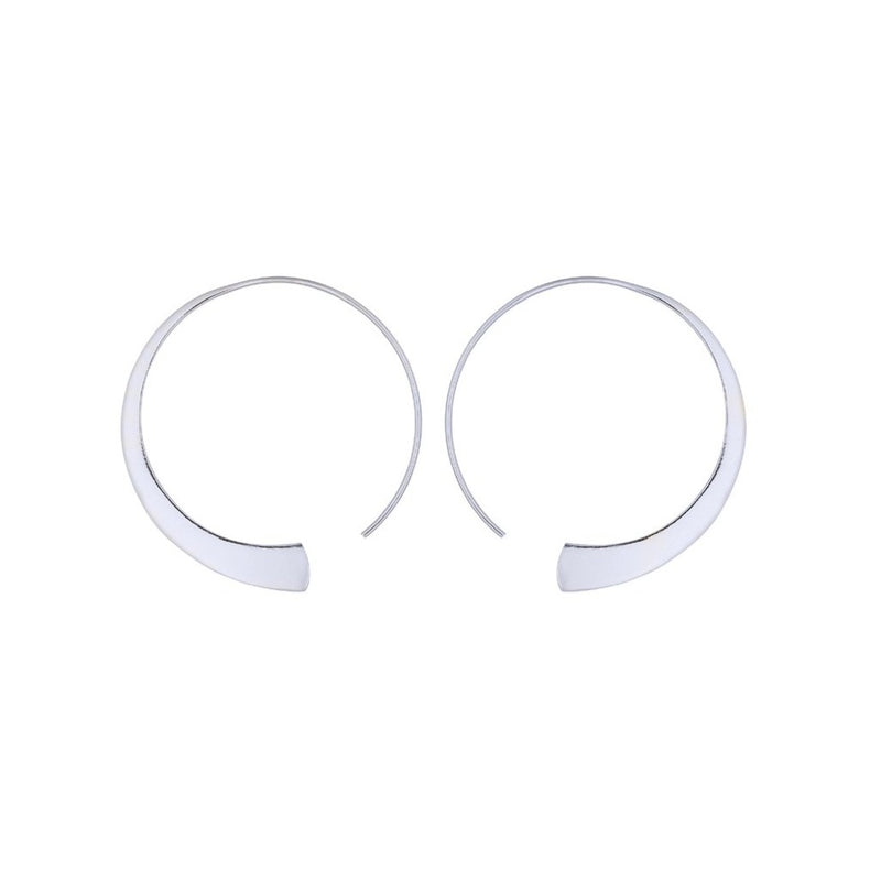 Fresh and minimalist Silver hoop earrings Ekia by Keep it Peachy now online on Cuemars