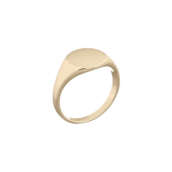 Eliza Gold Signet Ring | Keep it Peachy | Discover now at Cuemars
