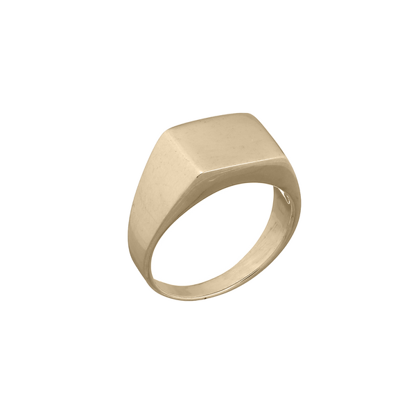 Bella Square Gold Signet Ring | Keep it Peachy | Discover now at Cuemars
