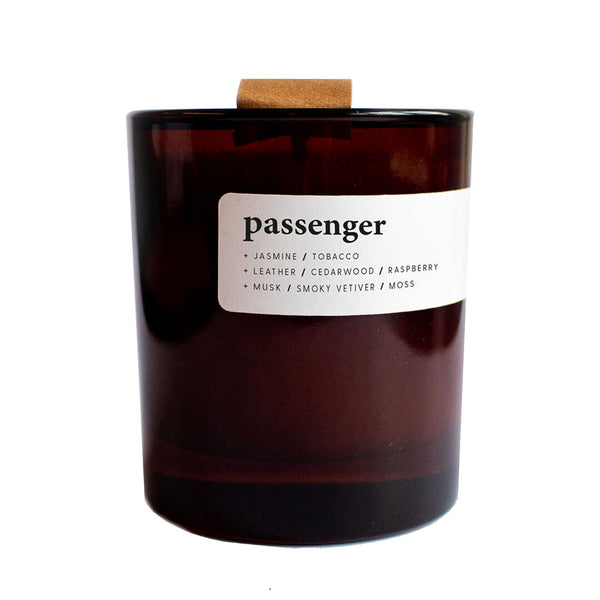 Eco Soy Wax Candle - Passenger - in Amber Glass Jar with Eco Lid - Keynvor available at Cuemars