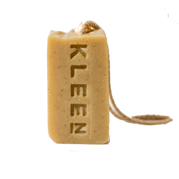 Soap on a cotton rope by natural skincare brand Kleen soaps