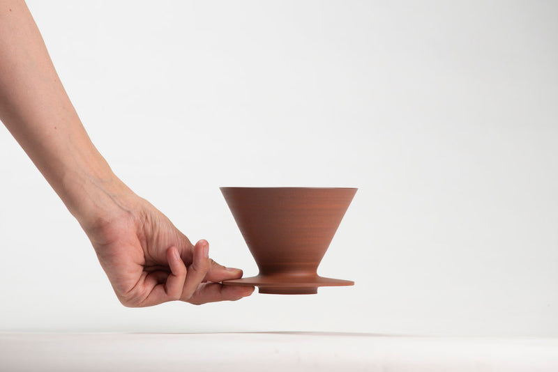 stylish and minimalist handmade coffee dripper to brew your own coffee at home