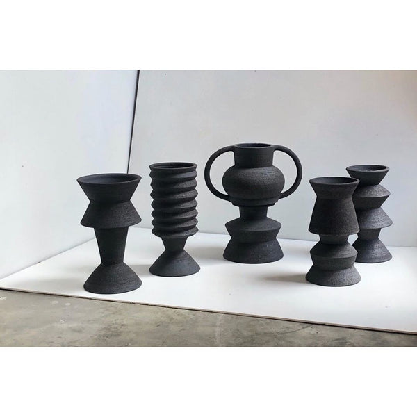 amphora-bloq-series-large-two-part-plant-pot-black-handamde-by-mari-masot-for-cuemars