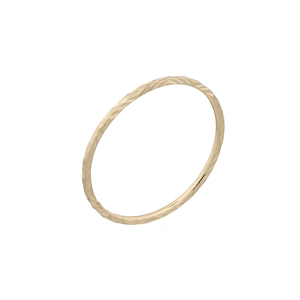 picture of handmade minimalist stacking ring in Gold Plated Sterling Silver by indie brand Keep it Peachy, available exclusively at Cuemars