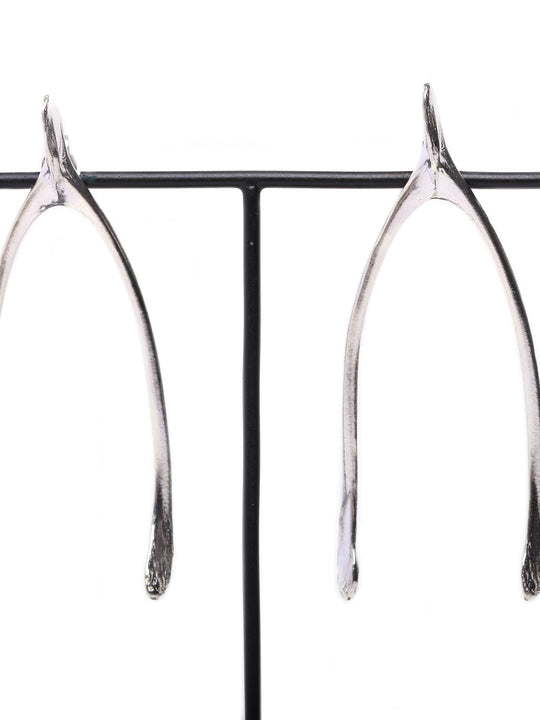 Silver | Gold - Wishbone earrings