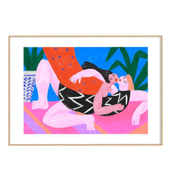 Picture of Motif Of Love, a limited edition screen print created by French Artist Cépé available now at cuemars.com