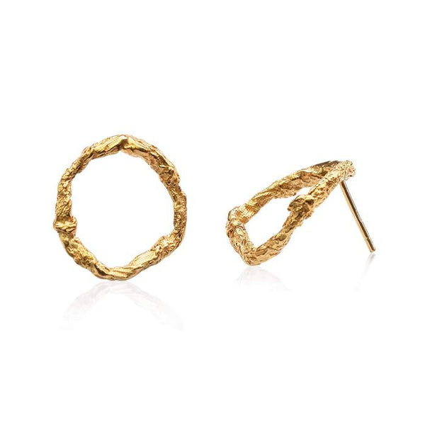 Gold Circle Earrings - Illusion Collection