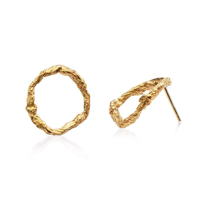 Illusion Circle Earrings - Gold