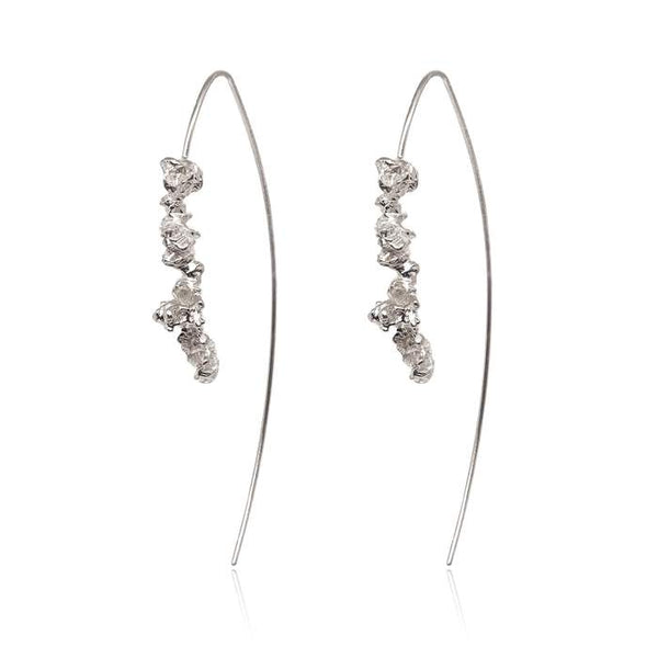 handcrafted sterling silver statement earrings hook hoops by niza huang