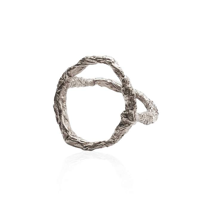 Niza Huang handcrafted Sterling Silver Siska Geometric ring