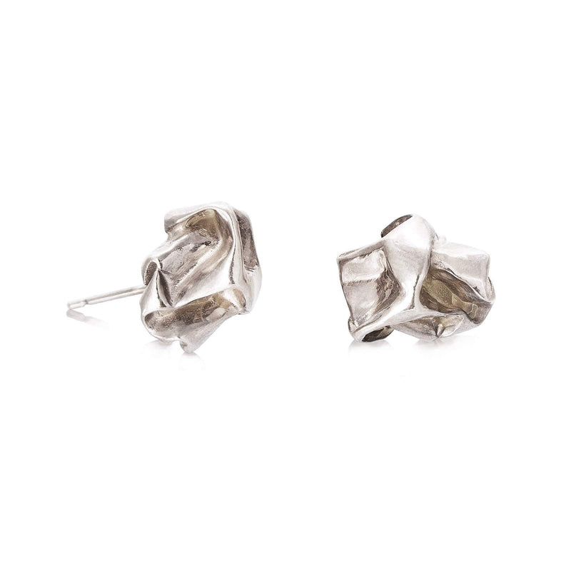Niza Huang handcrafted nugget studs sterling silver